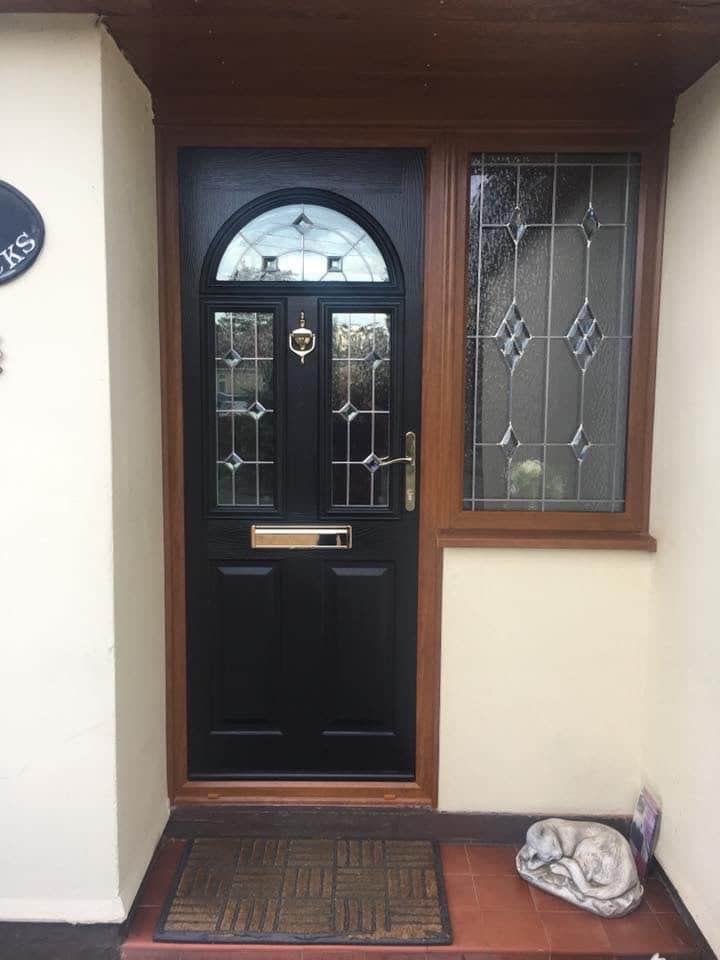 Composite door in Rhosgadfan