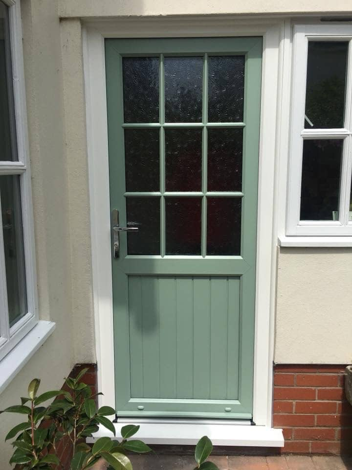 UPVC front door in Lower Green Bank