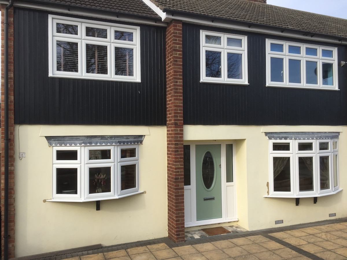House installed with UPVC windows at a competitive price