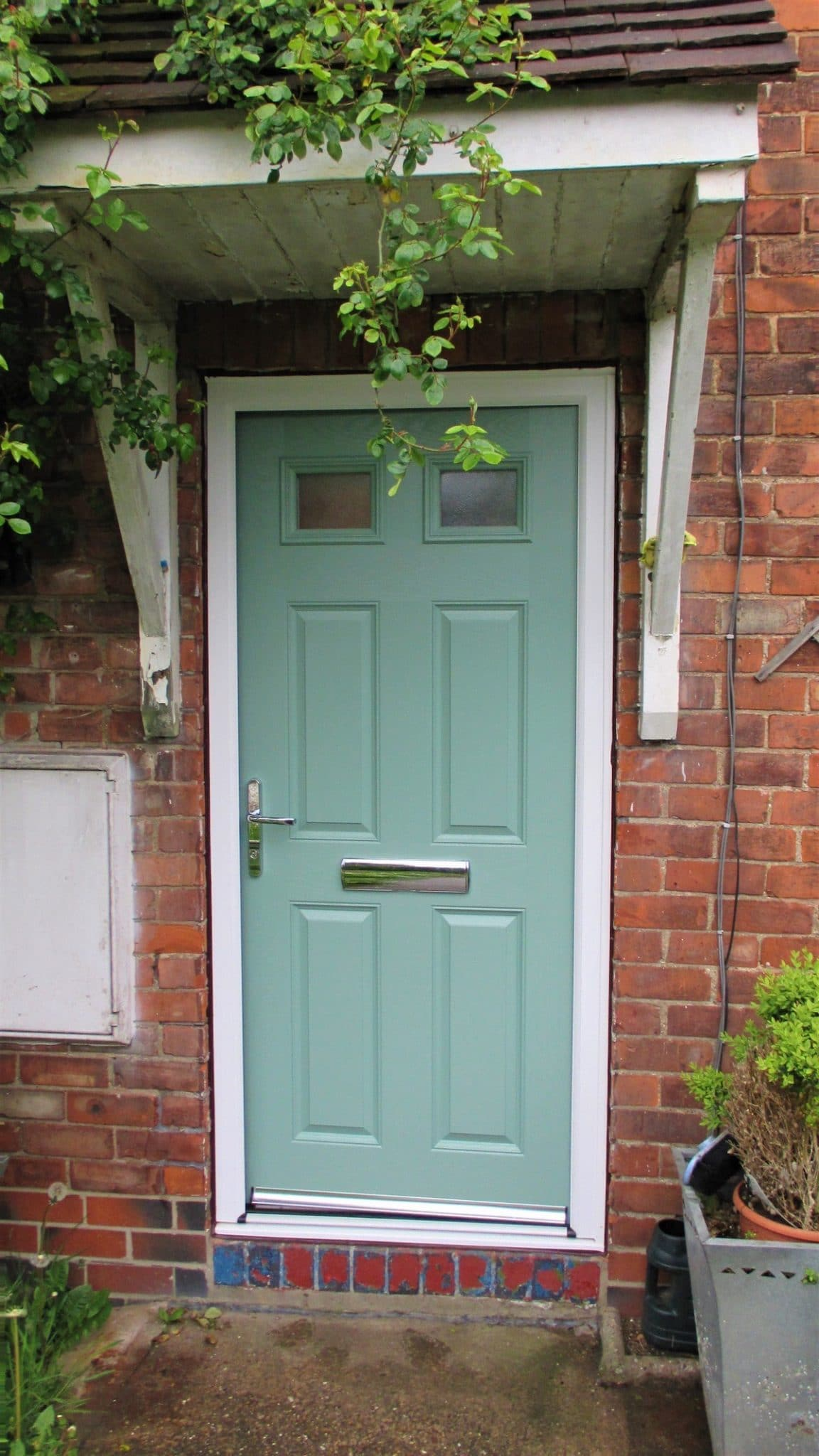 Replacement door in Ynyshir