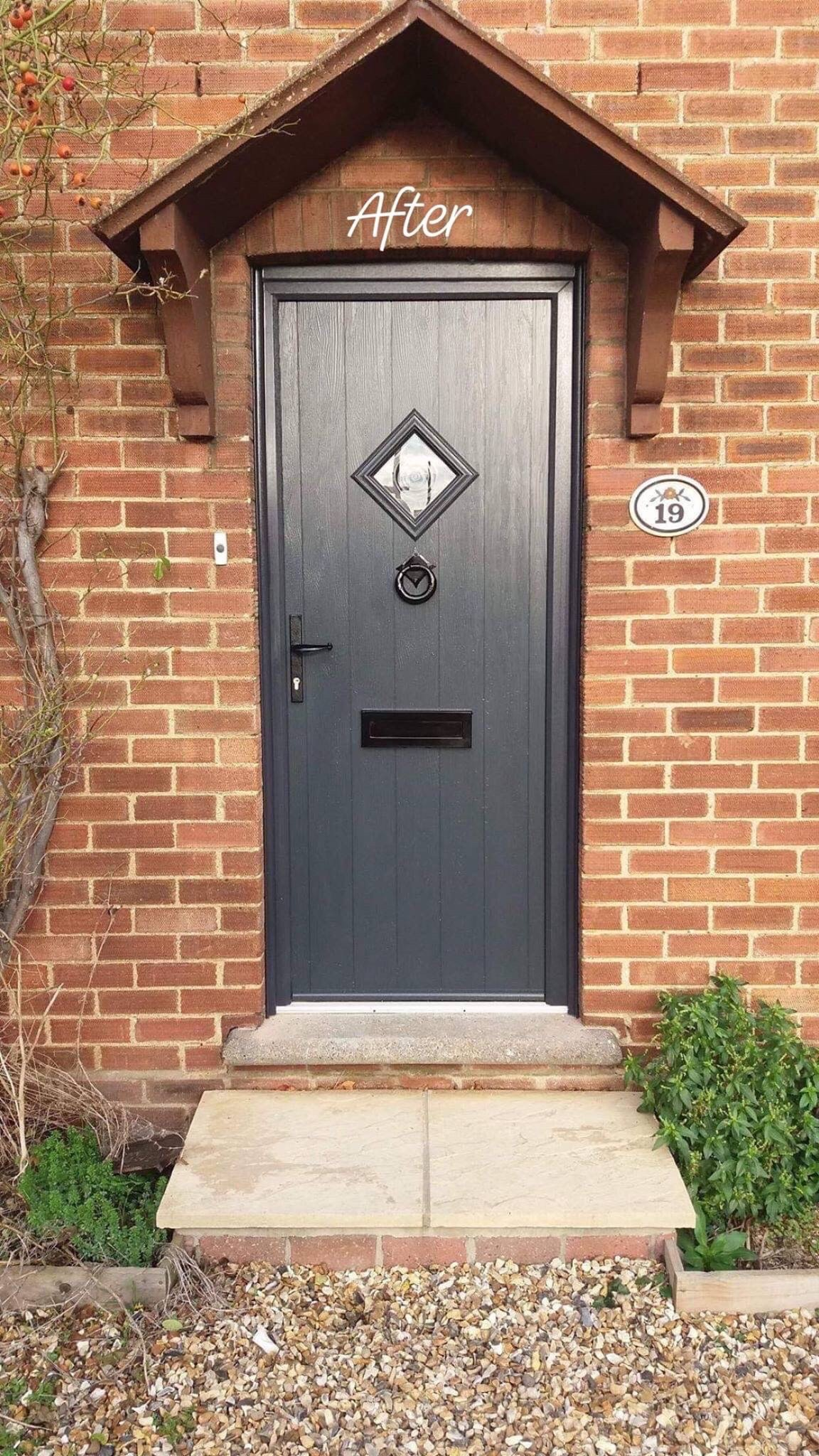 Composite door installed in Aller Park