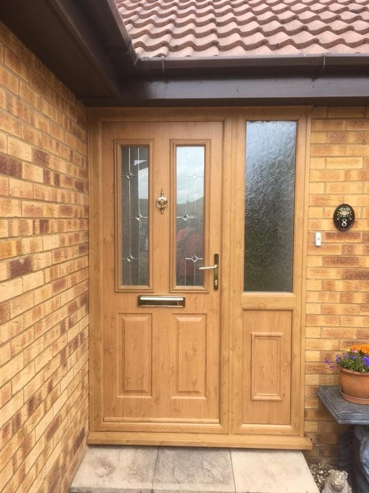 uPVC front door in Chestall
