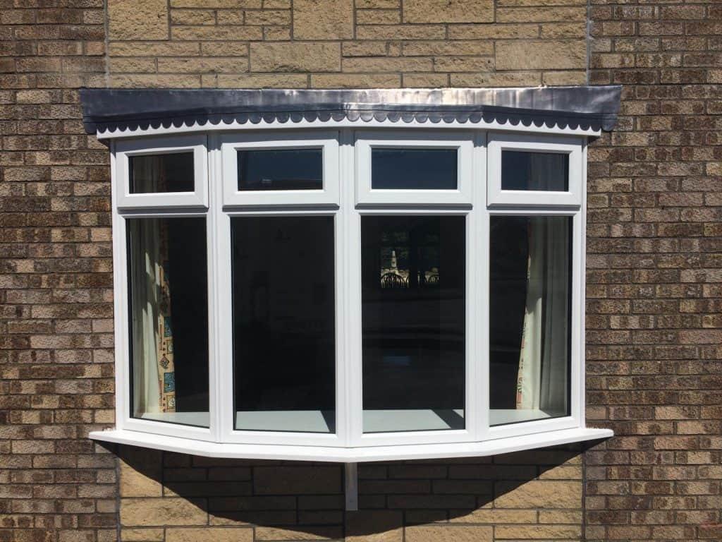 Bay window in White UPVC