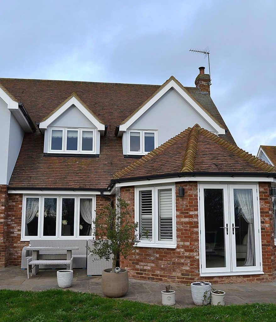 New white UPVC Windows installed by Double Glazing Funding